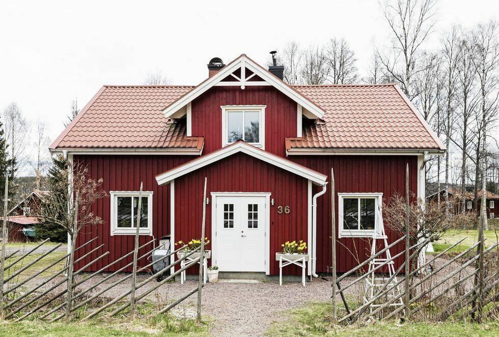 Inspirerande hem: Personligt med en röd tråd i Kil