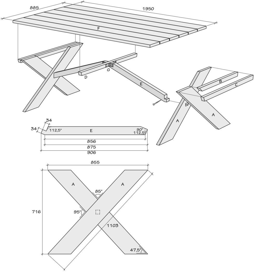 Bygg bordet som blir sommarfestens självklara mittpunkt