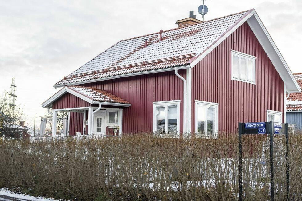 Bohemiskt drömhem i Borlänge – den röda tråden är svartvit