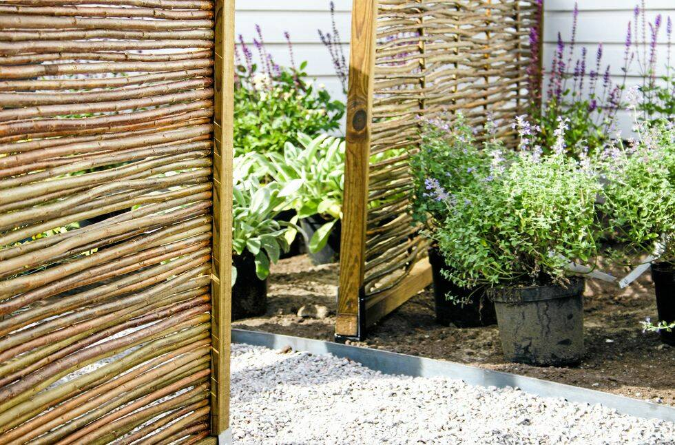 Trädgårdsskolan del 2: Bygg väggar i trädgården