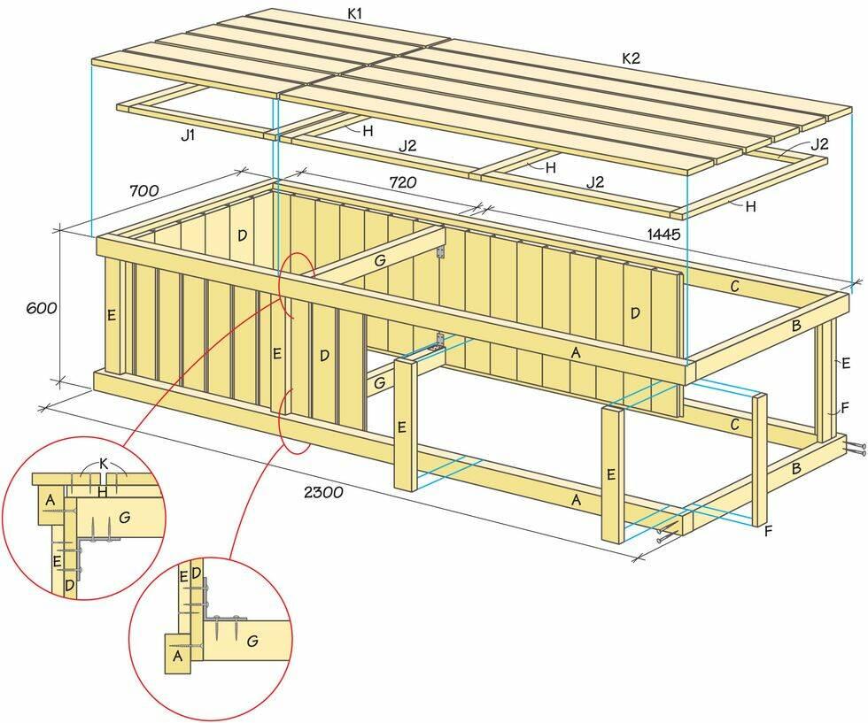 Så bygger du smarta bänken med dold förvaring för dynorna