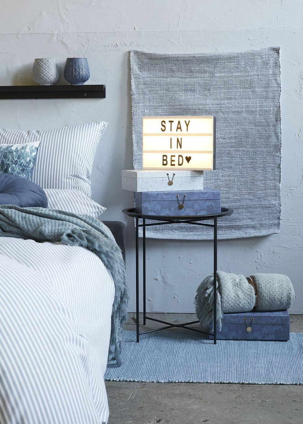 I höst ska sovrummet gå i blått – enligt Jysk