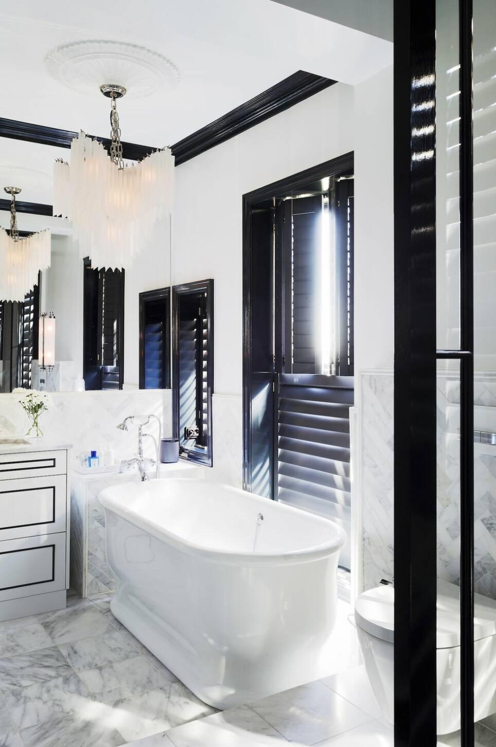 Det här badrummet är som hämtat ur ett lyxhotell