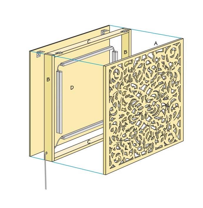 Så här lätt gör du dekorativa vägglampan