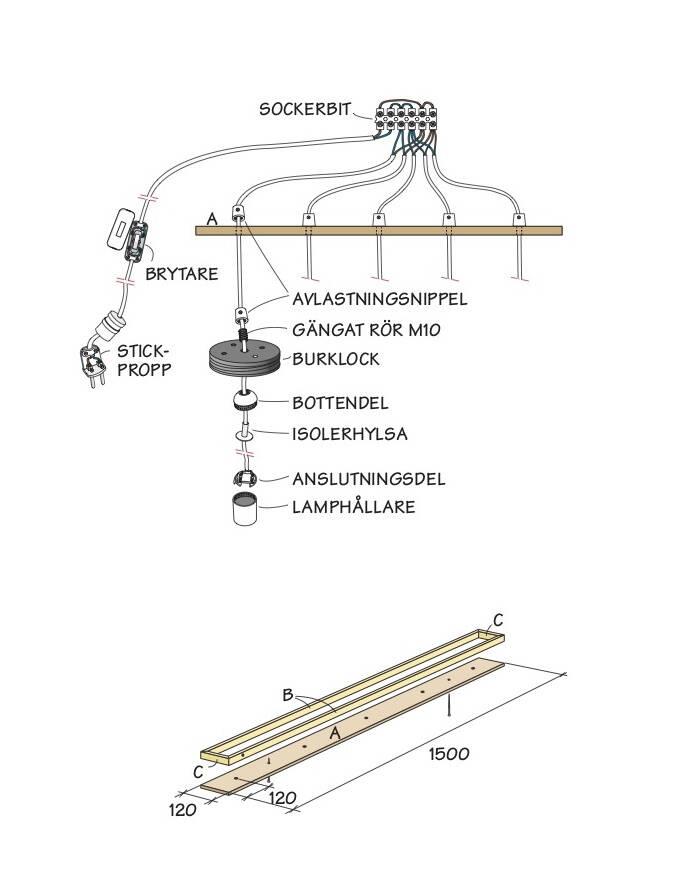 Så här gör du finaste lampan – med glasburkar