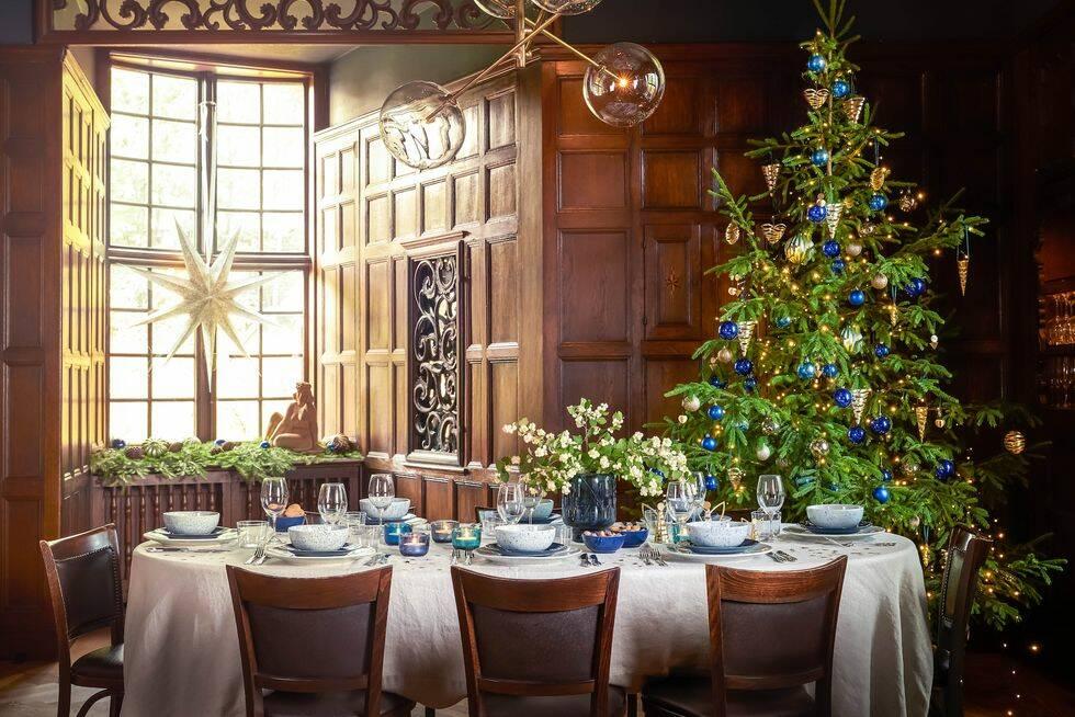 Så här stylar du en jul i blå toner