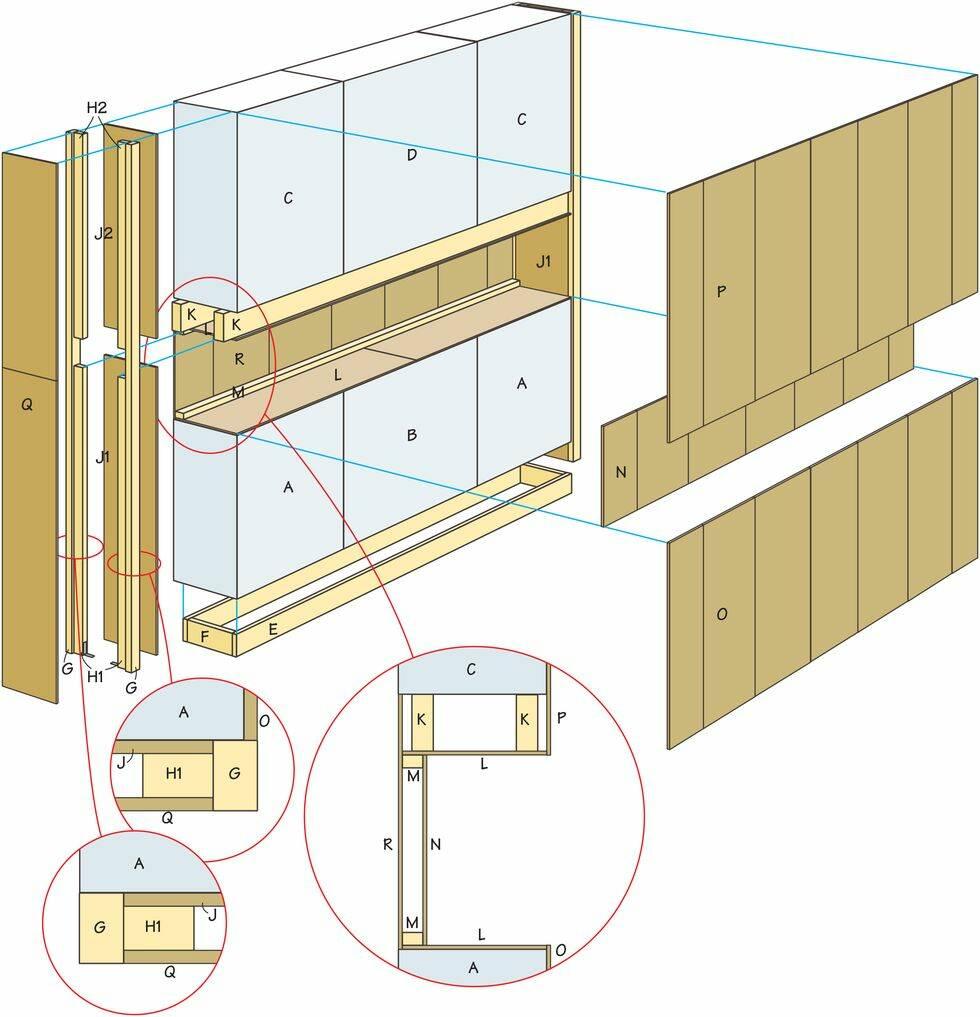 Så här bygger du en walk-in-closet bakom sängen