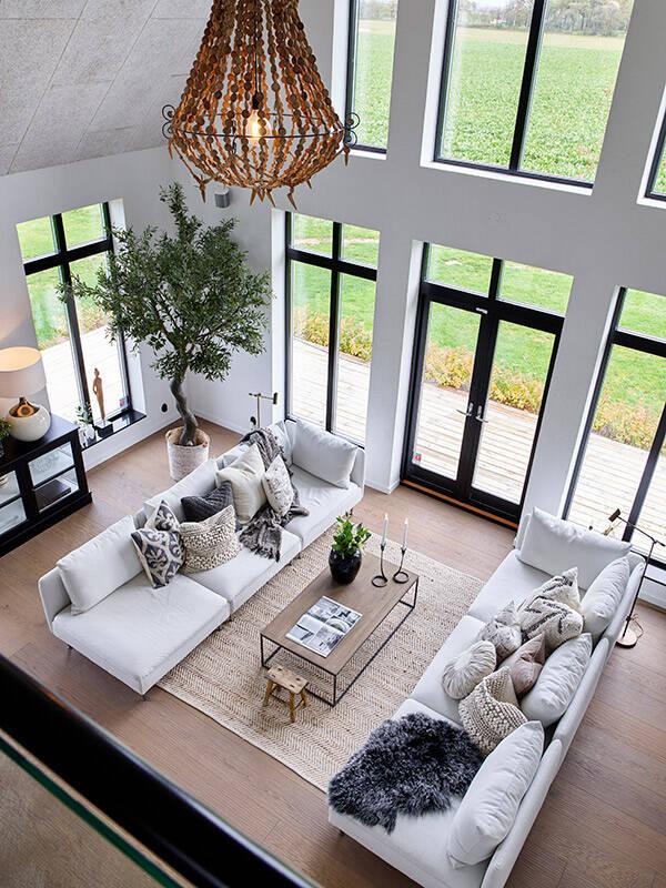 Arkitektritad villa - modern variant av den klassiska skånelängan