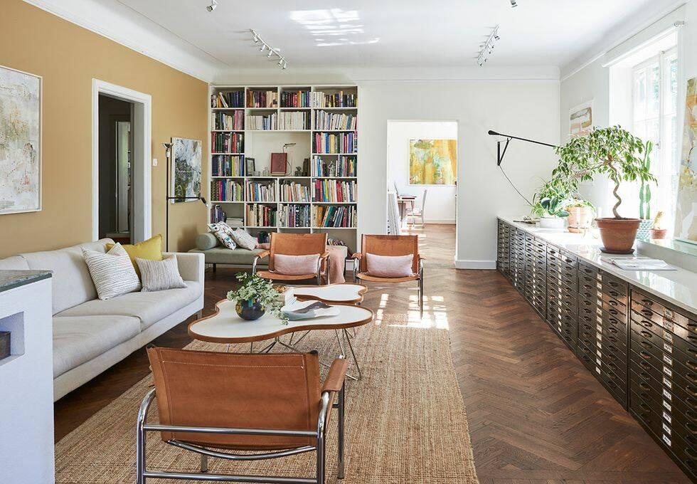 Bostad och showroom i konstfull blandning