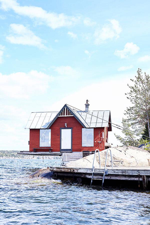 Drömmigt skärgårdshus vid havet - familjeklenoden