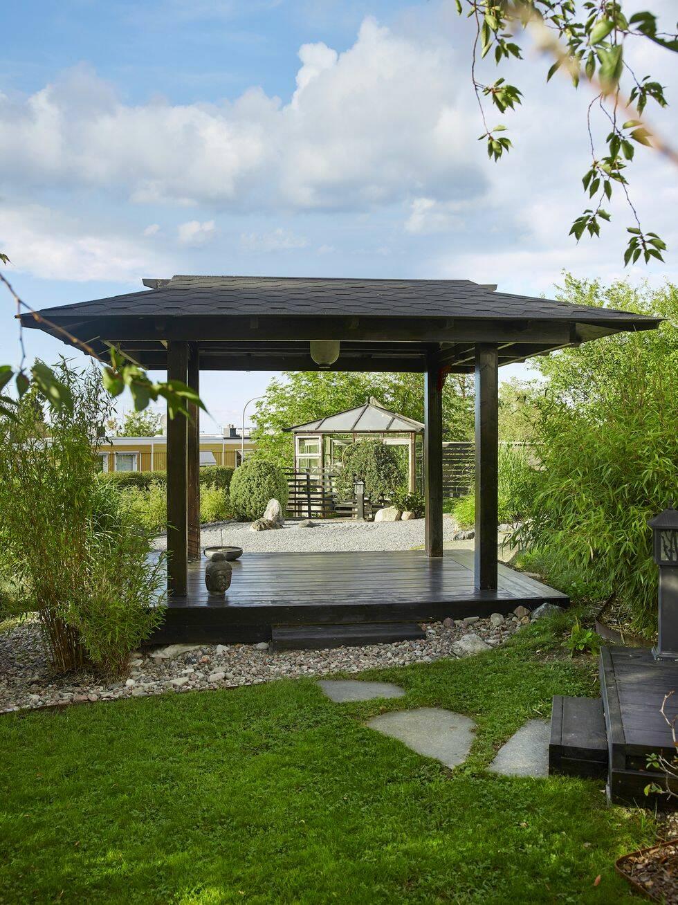 Så här bygger du en paviljong för lugn och återhämtning – i din trädgård
