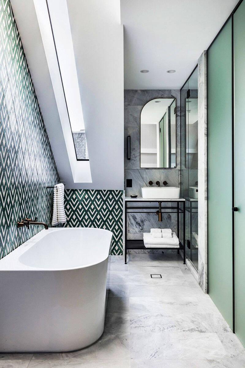 6 gröna badrum att inspireras av