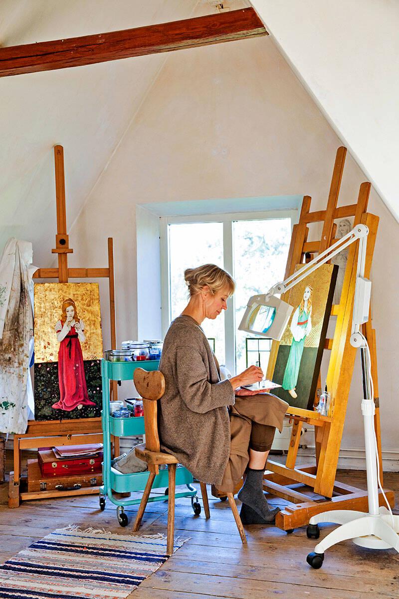 Konstnärlig idyll i Kivik på Österlen – kika in