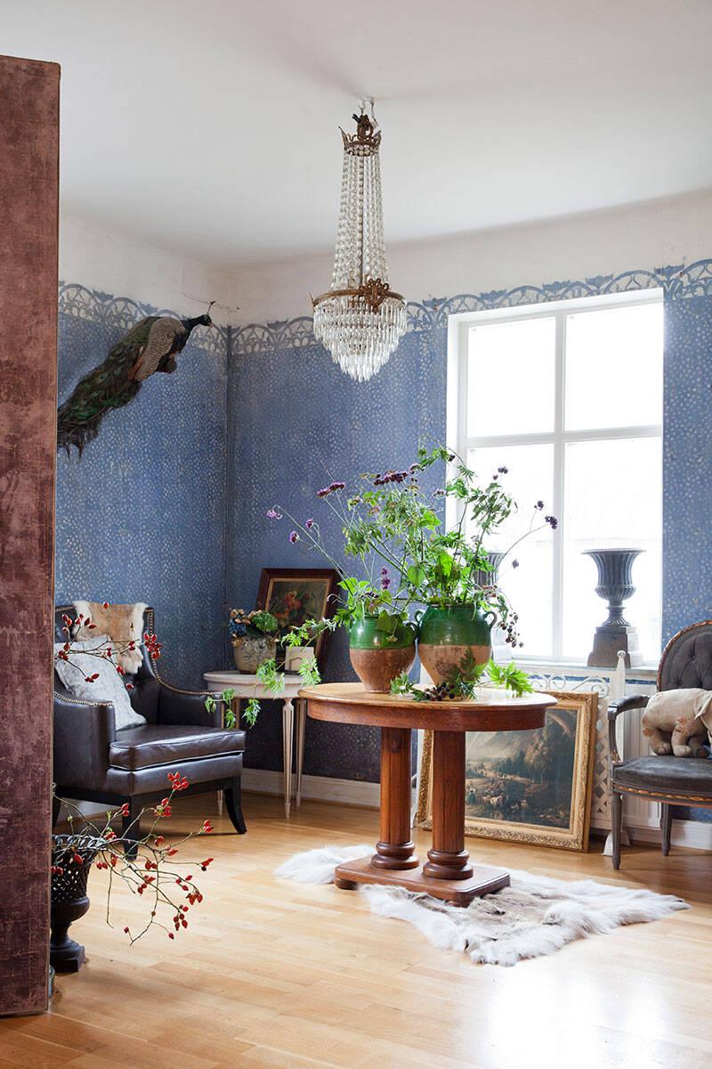Blomstermagi och inredningsglädje hos Karl Fredrik på Eklaholm