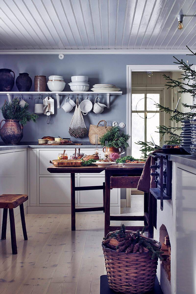 Inspireras av stylistens stämningsfulla hem i jul