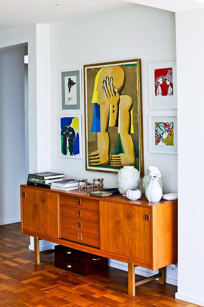 Modernt möter klassiskt i det formstarka hemmet i Helsingborg