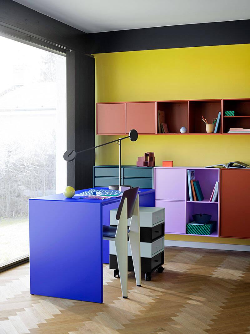 Färgrikt hemmakontor –9 detaljer som sätter stilen