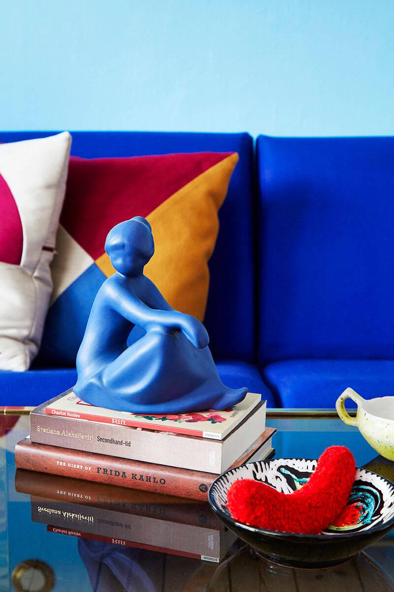 Formstark färgfest hos textildesignern