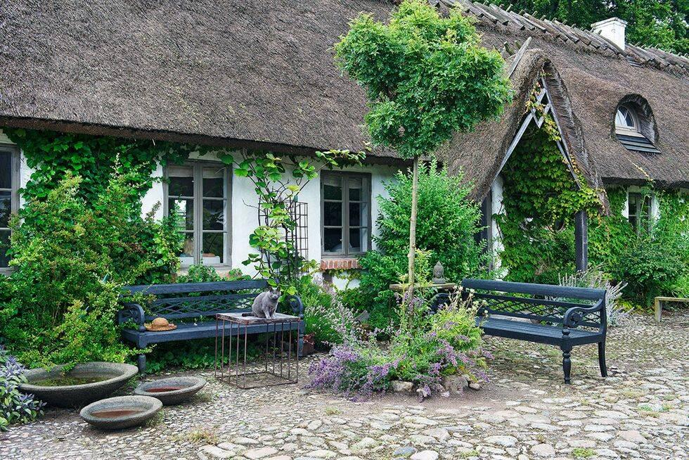 Inspireras av trädgårdsdesignerns lummiga idyll