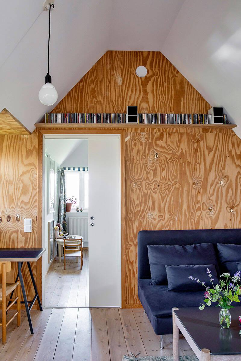 Rå plywood, allmoge och designklassiker i Skånelängan