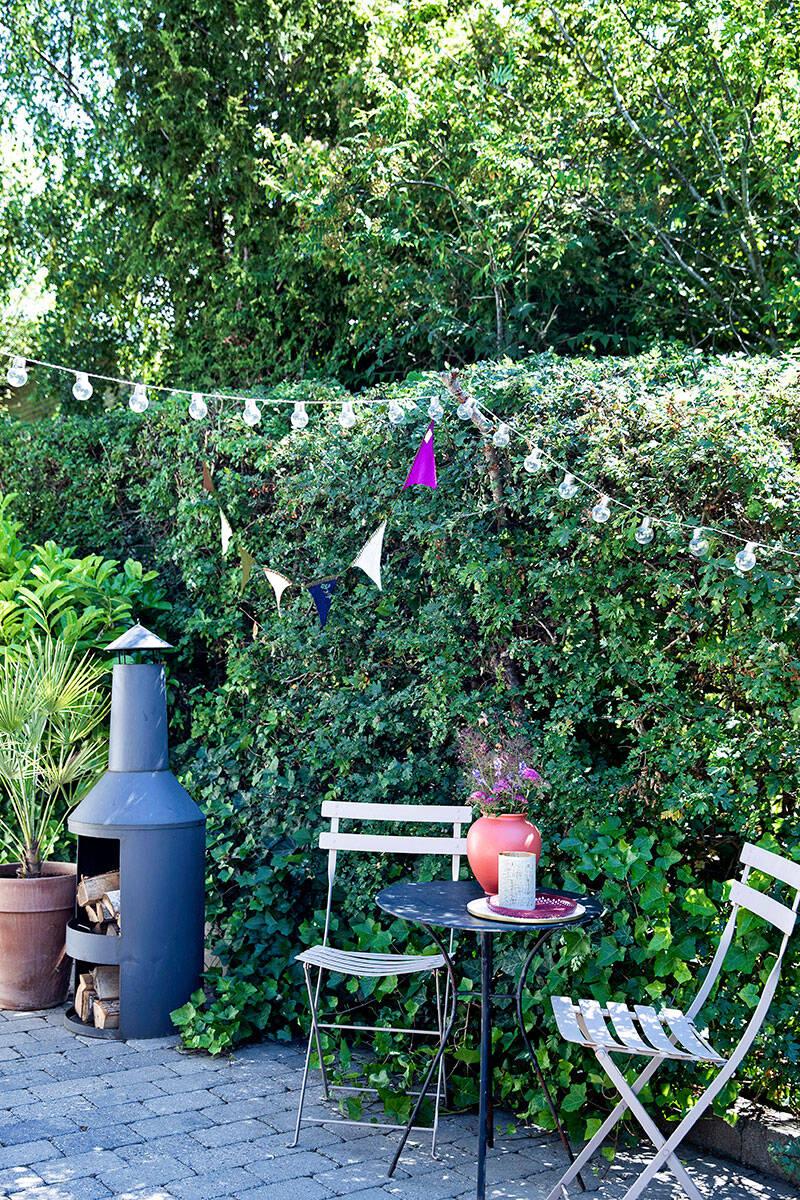 Så förvandlades trädgården till en stor och solig stenterrass