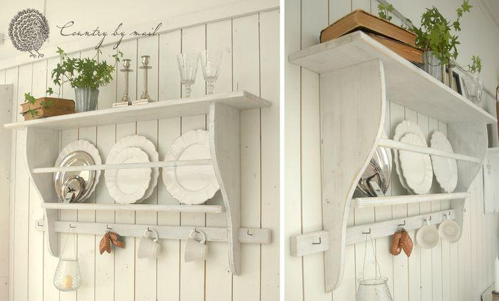 Snickra en tallrikshylla i lantlig stil
