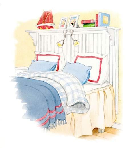 Snickra finaste sänggaveln