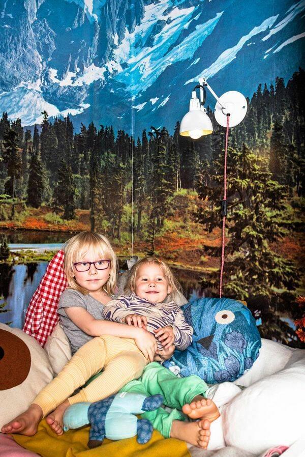 Barnrum med alpkänsla