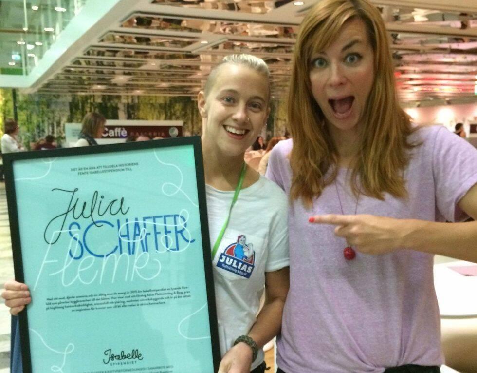Plattsättaren Julia Schaffer Flemk vann årets Isabelle-stipendium!