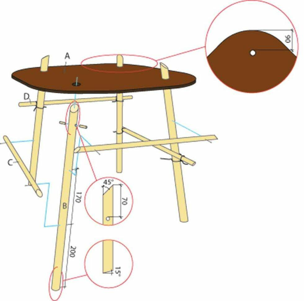 Bygg ett soffbord med plockepinnkänsla