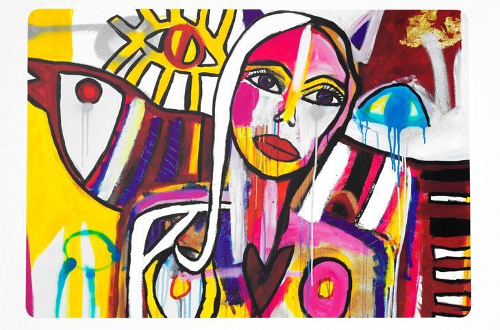 Carolina Gynning gör design av sin konst