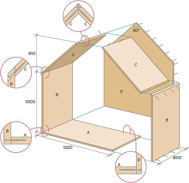 Bygg en inomhuskoja till barnen