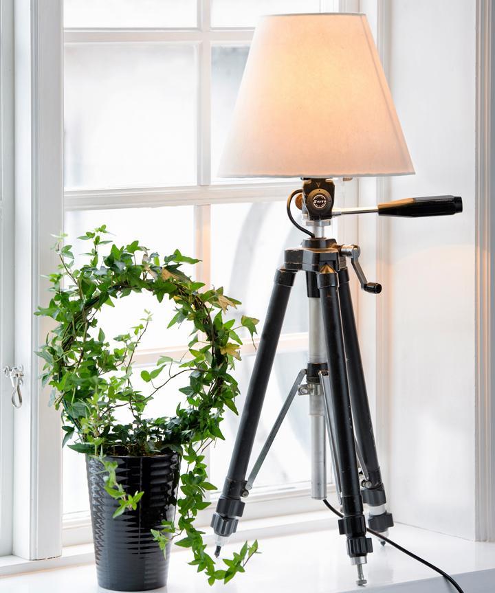 Gör en lampa av kamerastativet