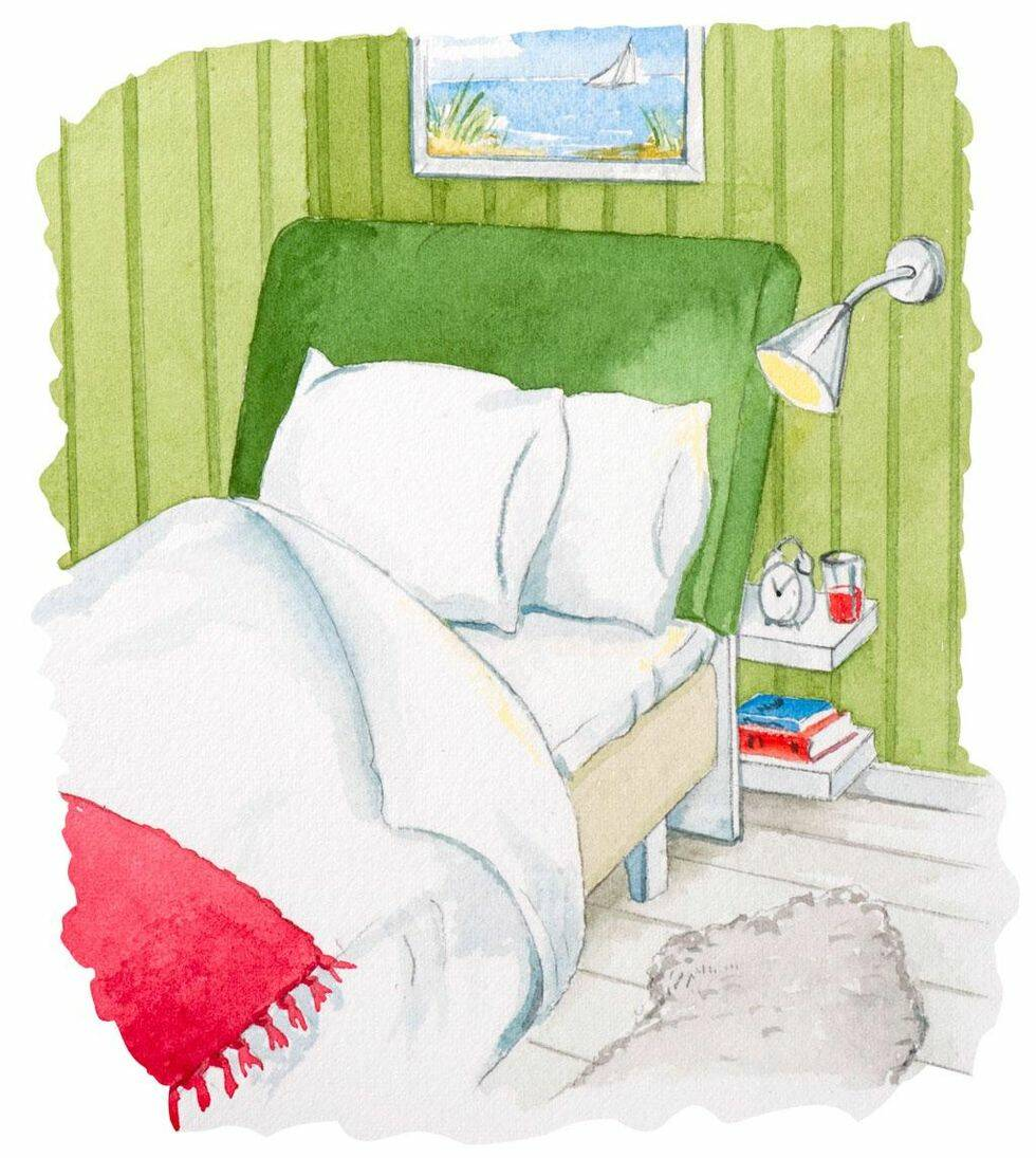 Bekväm sänggavel