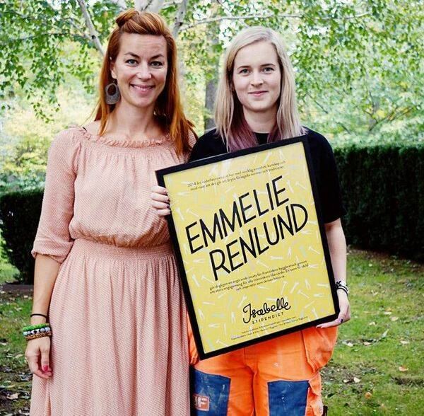 Emmelie Renlund blev årets Isabelle-stipendiat