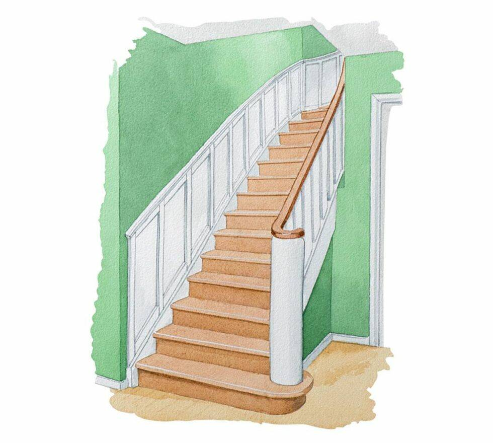 Panel i trappan