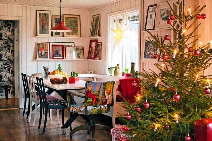 Traditionellt julhem med twist