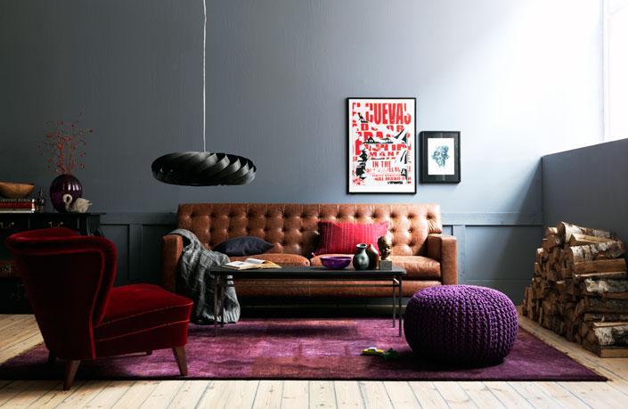 Lila, svart, läder - trender 2012