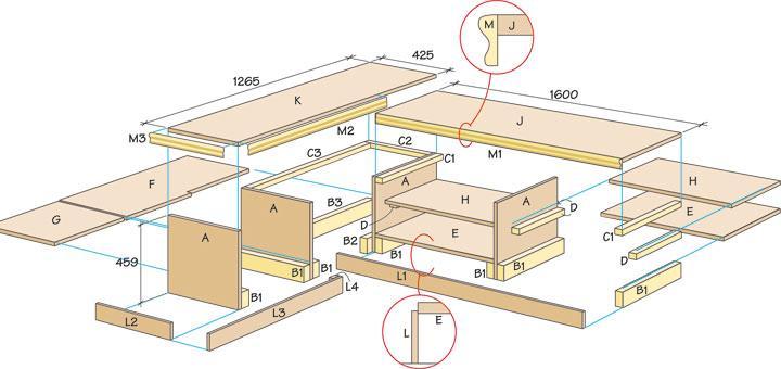 Så här bygger du hallbänken som fixar förvaringen
