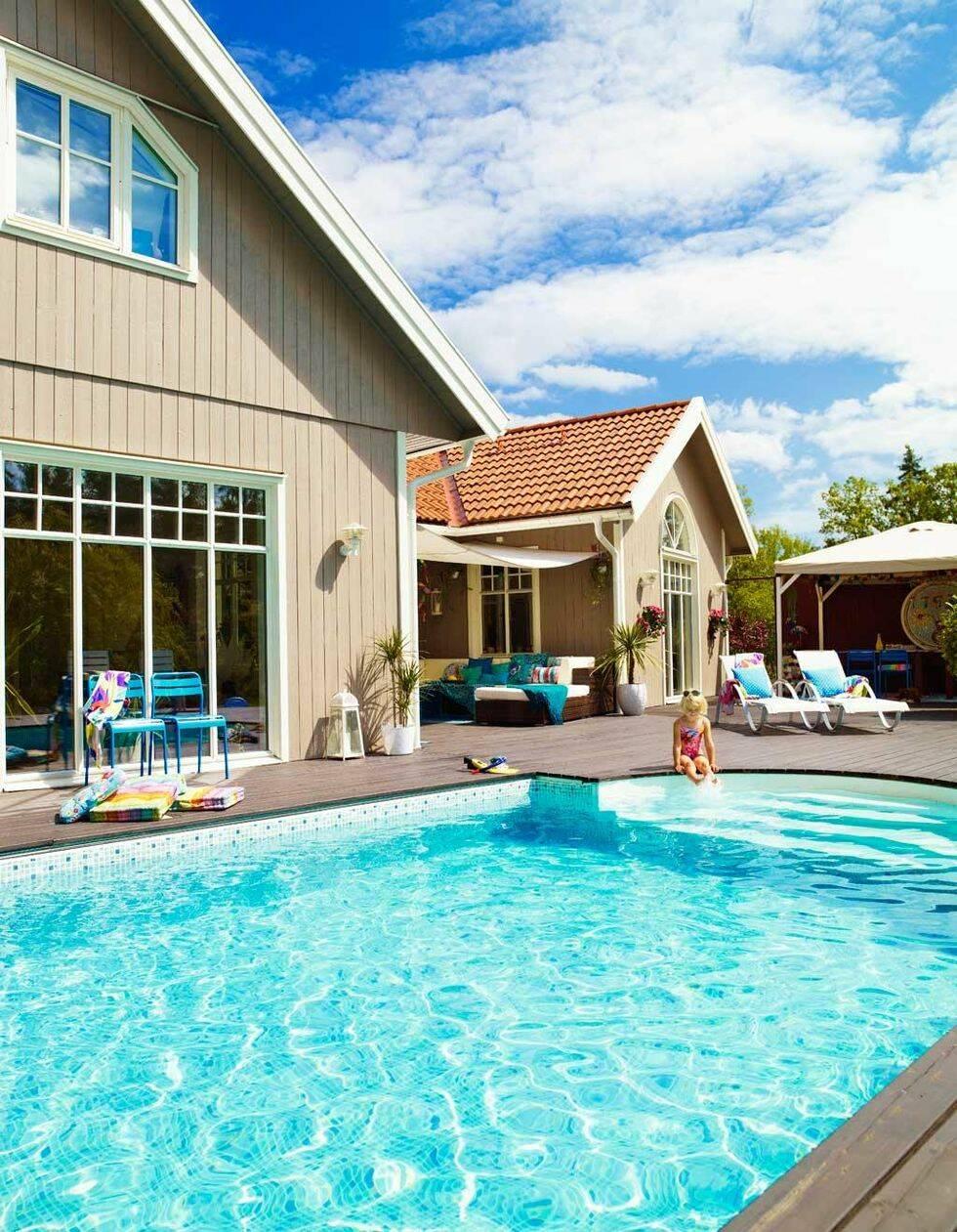 Härligt häng vid poolen