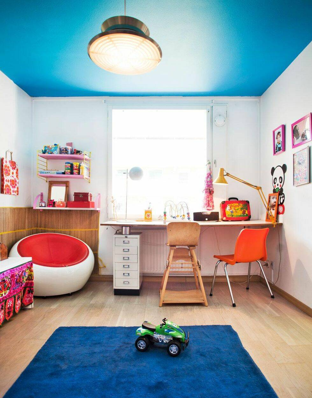 Lägenhet med feeling för färg
