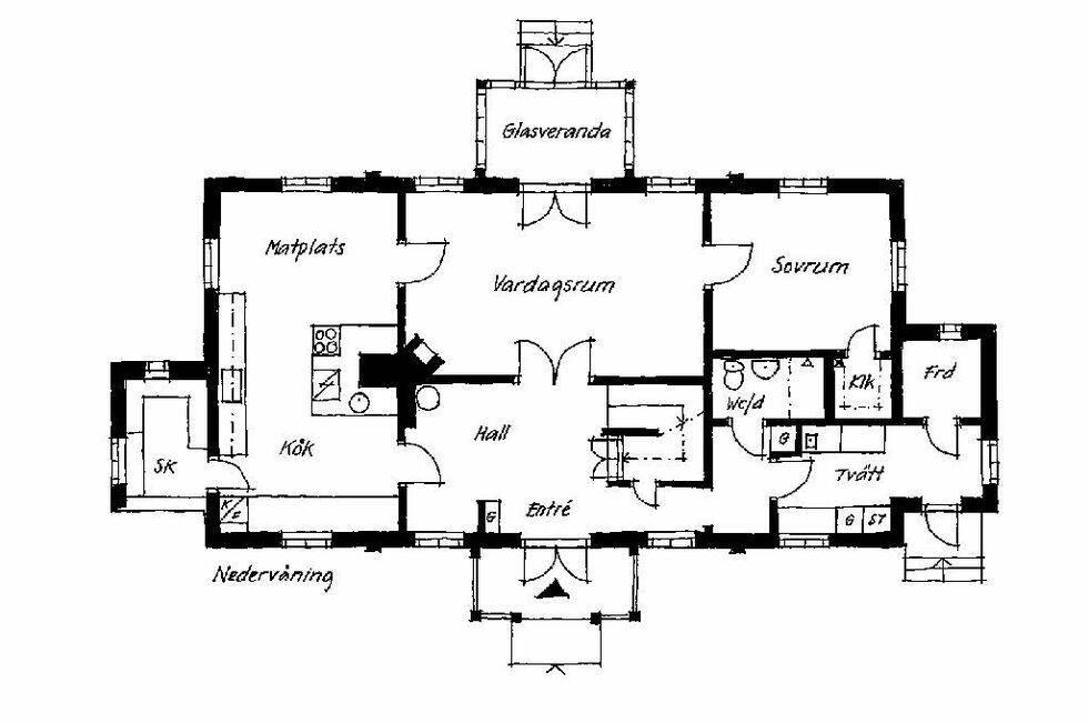 Toppmodernt hus i gammal stil