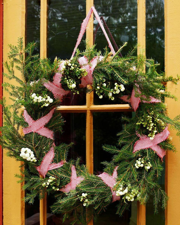 Bind en vacker dörrkrans