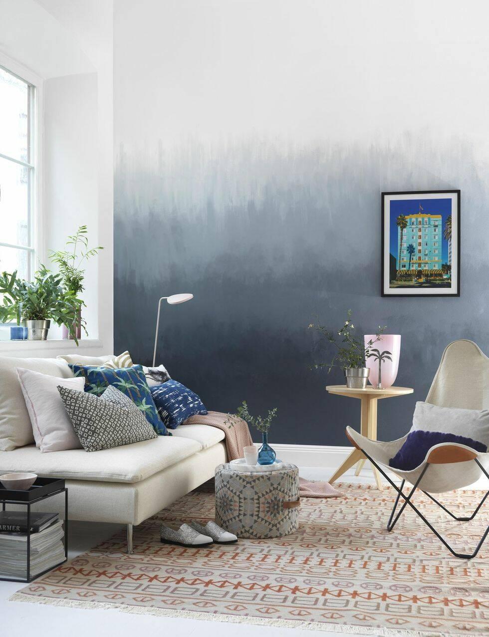 Fixa trendiga ombreväggen själv – 3 enkla steg