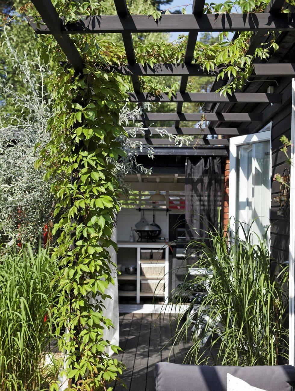 Trädgårdsinspiration: Massor av rum på 113 kvadrat