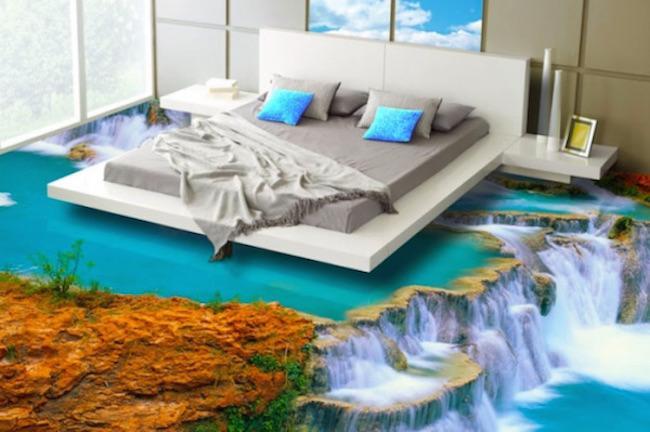 Här är 3D-golven som ger dig ett vattenfall mitt i sovrummet