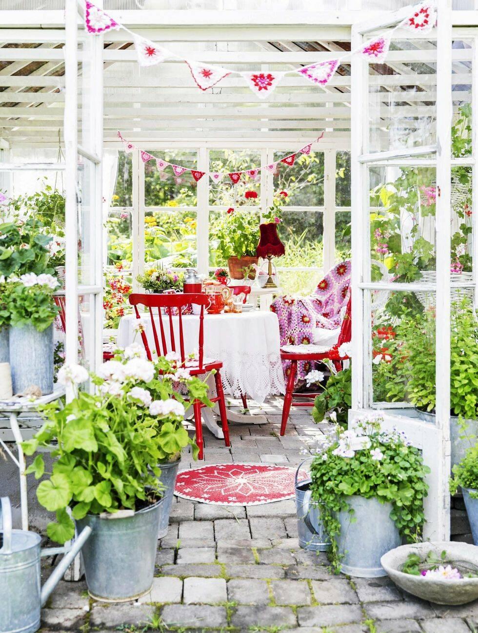 Teijas smultronställe – växthuset som blev ett lusthus