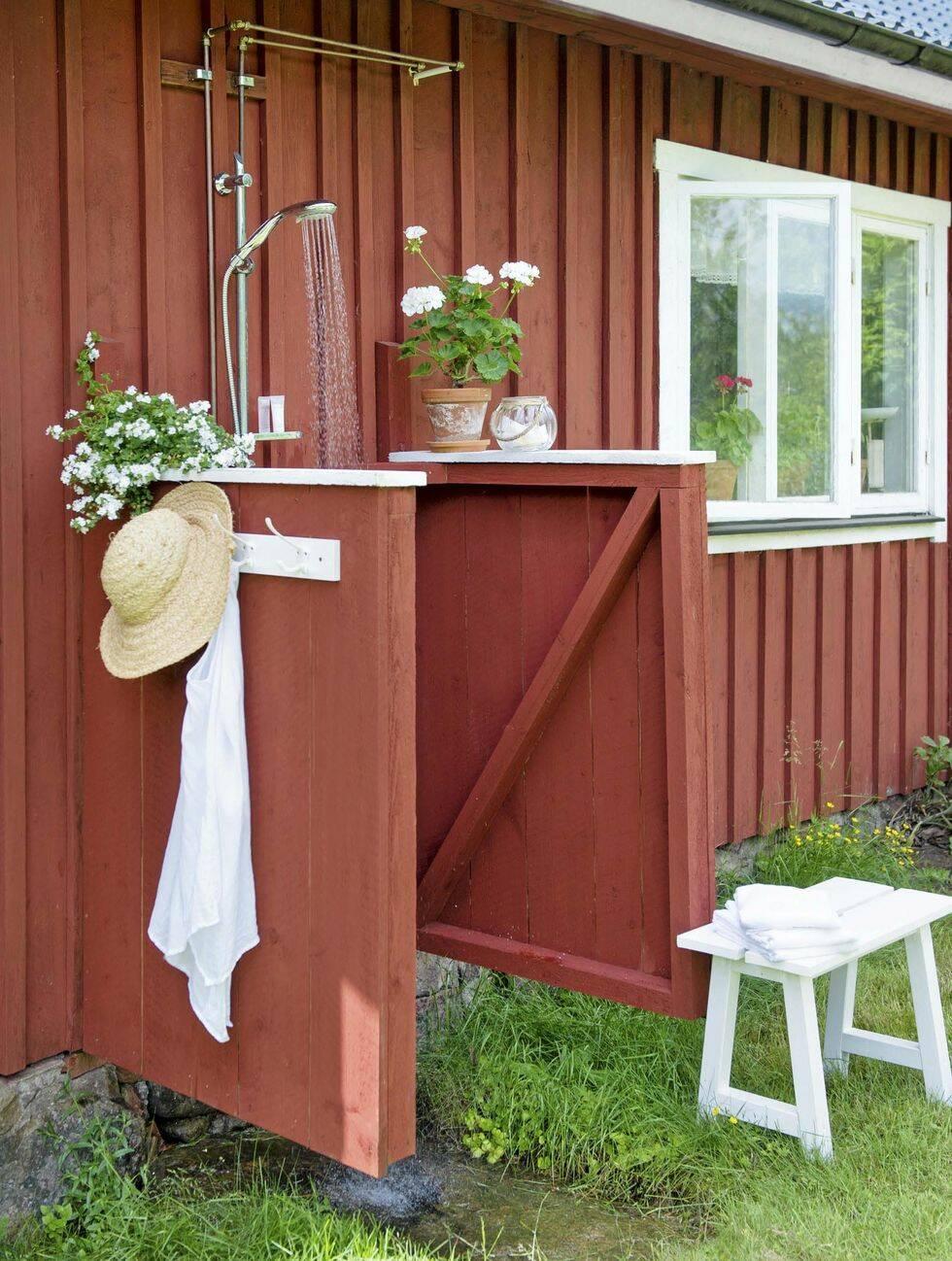 Gör det själv: Bygg utedusch för trädgården eller sommarstugan