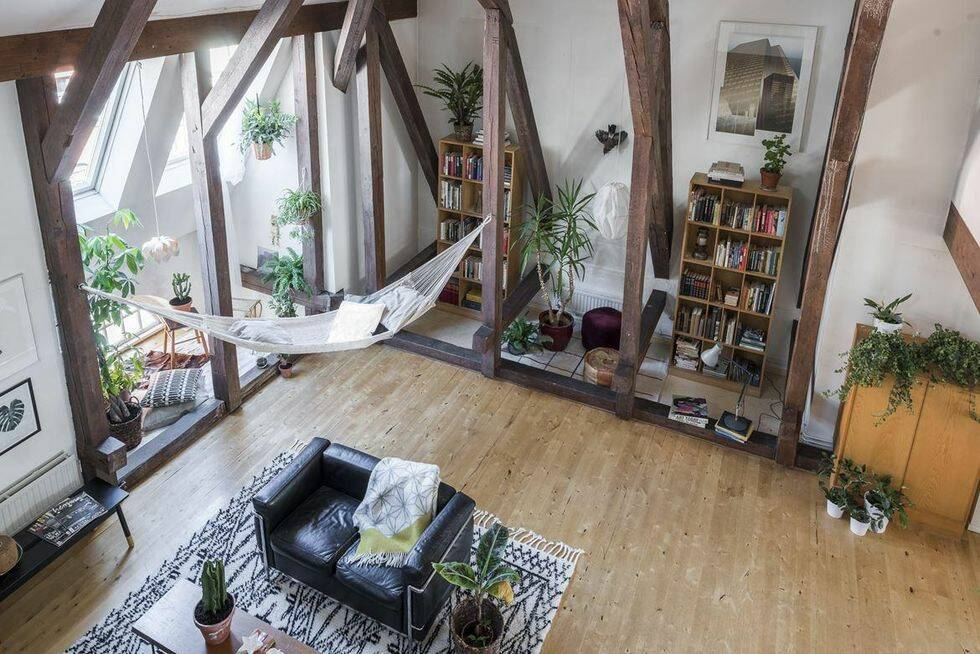 Bohemchict och grönskande – drömlägenhet i etage från Hemnet