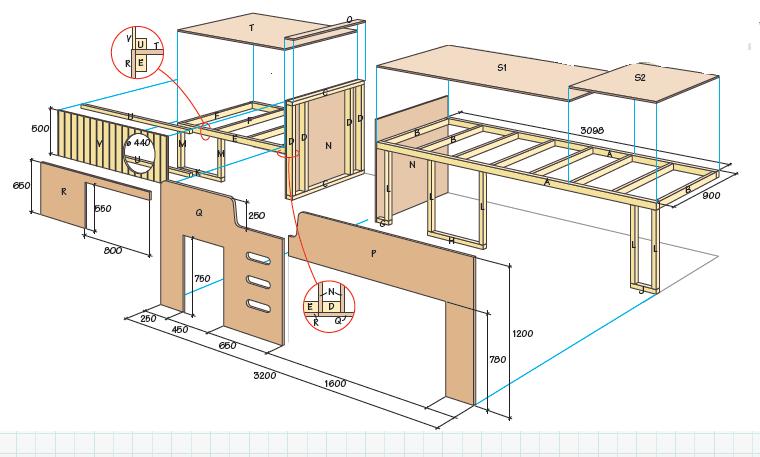 Ikea-hack: Förvandla tre Malm-byråer till smartaste möbeln för barnrummet